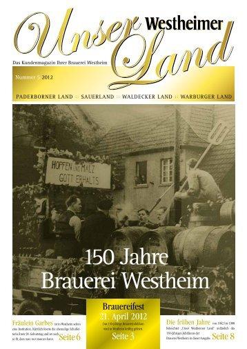 150 Jahre Brauerei Westheim - westheimer