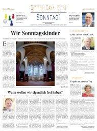 Sonntag - Diakoniewerk Arbeit & Kultur gGmbH