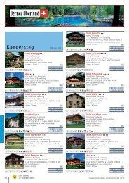 Ferienwohnungen - KANDERSTEG - Berner Oberland - Schweiz