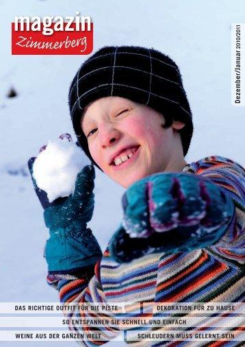 Ausgabe Dezember 2010/Januar 2011 - Zimmerberg-Magazin