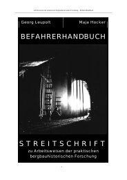 BEFAHRERHANDBUCH STREITSCHRIFT - Unbekannter Bergbau