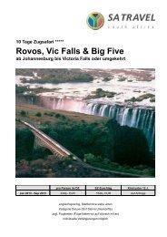 10 Tage Rovos Rail, Victoria Falls & Big - SA Deluxe - Fünf Sterne ...