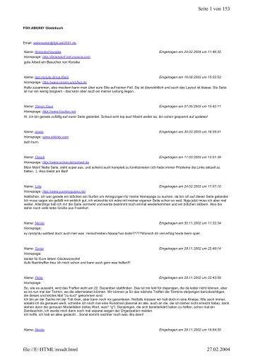 Seite 1 von 153 27.02.2004 file://E:\HTML\result.html
