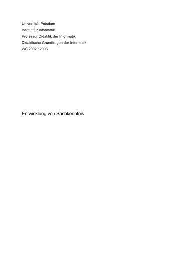 Masterarbeit Zur Unterrichtseinheit Didaktik Universität Osnabrück