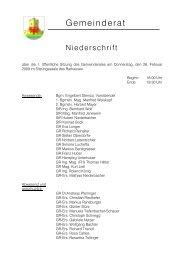 2009 Sitzung 1 (Februar) (277 KB) - .PDF - Stadtgemeinde Landeck