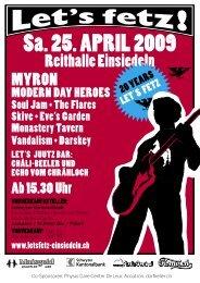 Booklet 2009 - Let's Fetz Einsiedeln