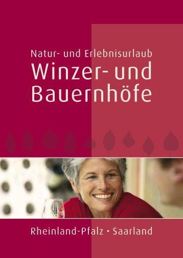 NatUrlaub auf Winzer- und Bauernhöfen - Rheinland-Pfalz/Saarland