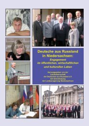 Deutsche aus Russland in Niedersachsen: - Landsmannschaft der ...