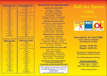Ball des Sports 2006 - Tanzpaar Ilka Jacobs & Holger Wilts
