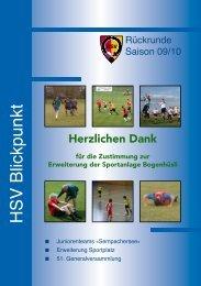 Blickpunkt Ausgabe 26 - Hildisrieder Sportverein