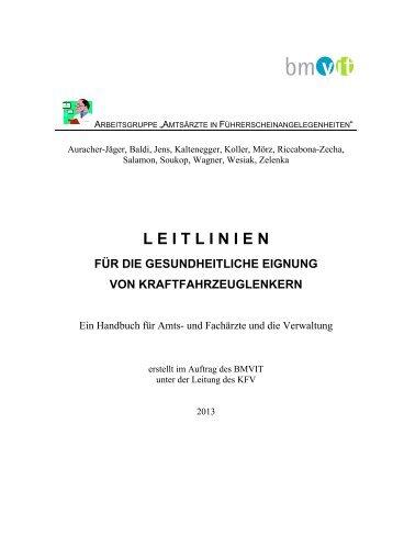 Leitlinien für die gesundheitliche Eignung - Bundesministerium für ...