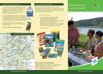 Faltblatt Picknick-Service - Oberpfälzer Wald