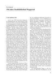 150 Jahre Stadtbibliothek Wuppertal - Bergischer Geschichtsverein ...