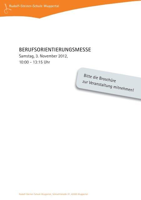 Berufsvorstellung 2012_20121009.indd - Rudolf Steiner Schule ...