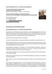 (Auszug) und Kurzlebenslauf - Prof. Dr. Braukmann - Bergische ...
