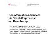 Geoinformations-Services für Geschäftsprozesse mit Raumbezug