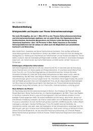 Medienmitteilung (PDF) - AHB - Berner Fachhochschule