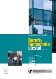 Infoprospekt Schule - Gewerblich-industrielle Berufsschule Liestal