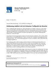 CO2-Zertifikat als Höhepunkt Der 6. Holzbautag Biel ... - Lignum