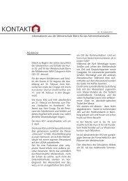 Kontakte 2011 (PDF 109 KB) - Meisterschule Ebern