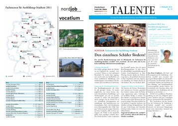 Zeitung Talente - Schule-Beruf-Kultur