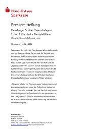 Planspiel Börse Sieger Flensburg - Nord-Ostsee Sparkasse