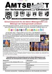 Seniorenfasenacht - Verbandsgemeinde Landstuhl