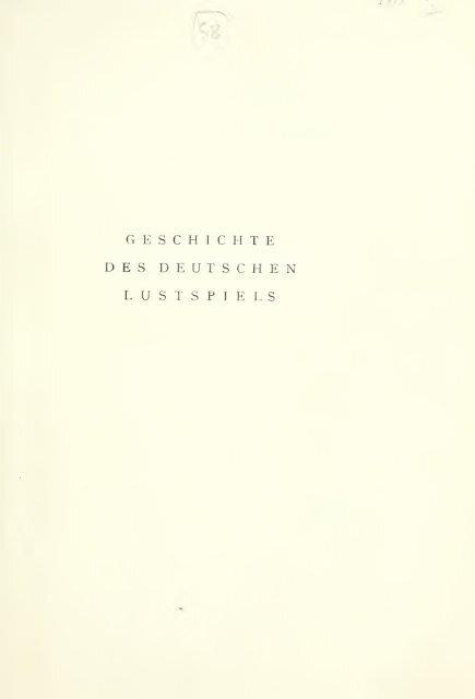 Geschichte des deutschen Lustspiels