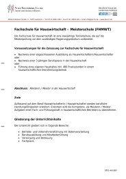 Fachschule für Hauswirtschaft – Meisterschule (FHMWT)