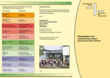 """Download der Infobroschüre """"Übersicht Bildungsgänge"""" (PDF) - LFS ..."""