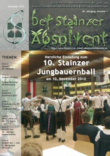 10. Stainzer Jungbauernball - LFS Stainz