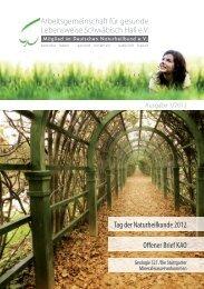 Heft als PDF - Arbeitsgemeinschaft gesunde Lebensweise