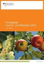 Ertragslage Garten- und Weinbau - BMELV-Statistik