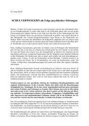 SCHULVERWEIGERN als Folge psychischer ... - Schulpsychologie
