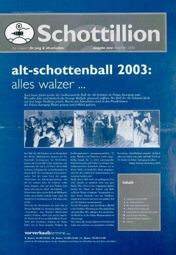 Schottillion Ausgabe Nr. 2 - Alt-Schotten
