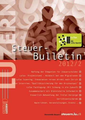 steuerbulletin 12 2 - Steuern im Kanton Luzern