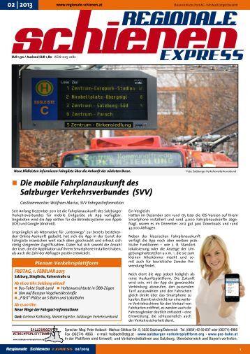 Regionale ExprEss - Salzburger Verkehrsplattform