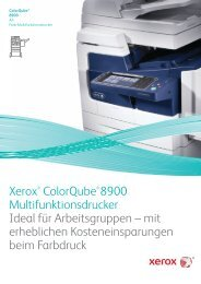 Xerox® ColorQube® 8900 Multifunktionsdrucker Ideal für ...