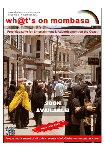 Magazine - whats on mombasa