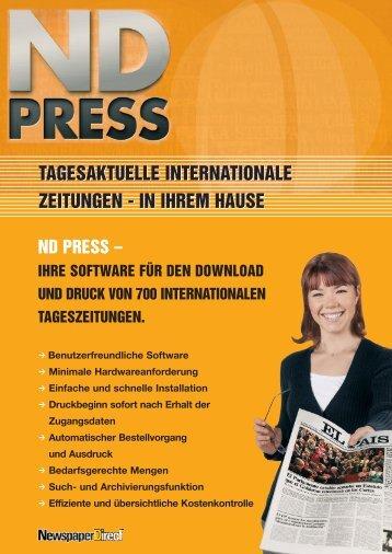 tagesaktuelle internationale zeitungen - Newspaperdirect.de