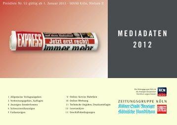 MEDIADATEN 2012 - Kölnische Rundschau