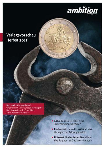 Verlagsvorschau Herbst 2011 - Ambition Verlag