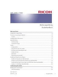 Bedienungsanleitung Druckerhandbuch MPC 6000 ... - Nashuatec