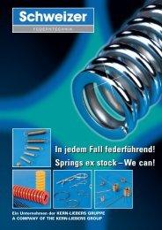 Katalog - Technische Federn von Schweizer Federntechnik