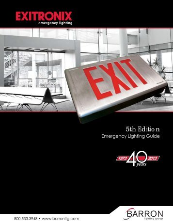 Exitronix - 2013 5th Edition - Barron Lighting Group