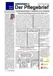 Der Pflegebrief - Ausgabe 07/2003 (Nr. 78) - Pflegen-online.de