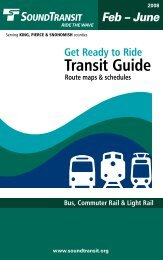 Transit Guide - Sound Transit