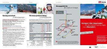 Stuttgart–Ulm–Skiparadies: mit dem Schnee-Express Allgäu nach ...