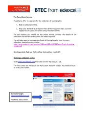 Parcelforce for Despatch of Samples (Edexcel) - FoI@strode-college ...