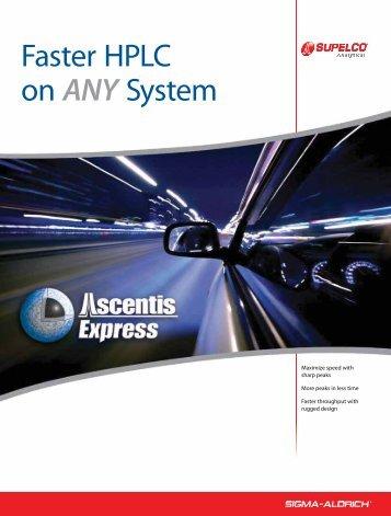 Ascentis Express HPLC Columns with Fused-Core ... - Sigma-Aldrich